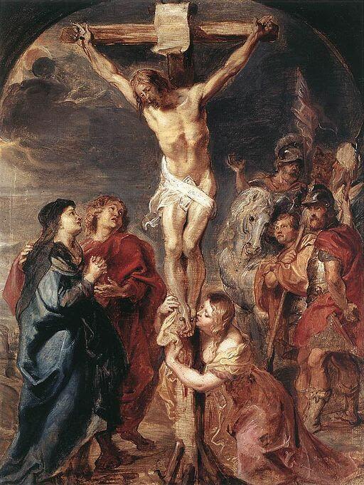 Christ on Cross: Milton's