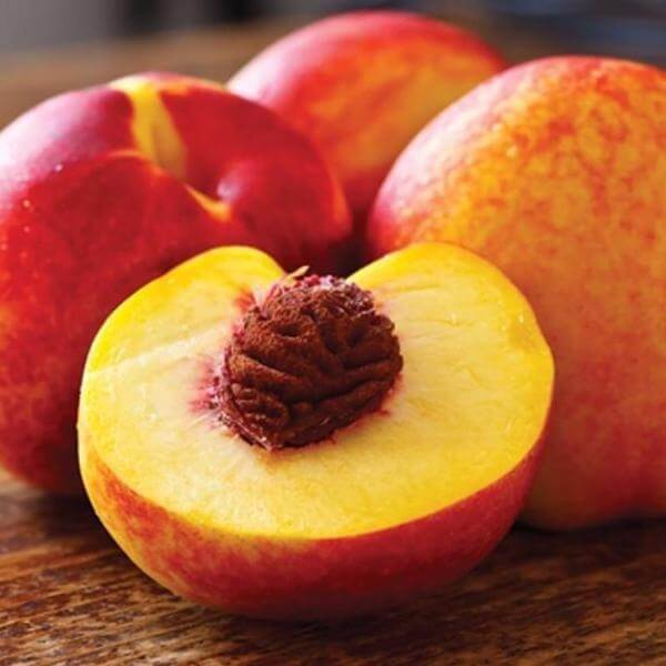 nectarine seed and pulp